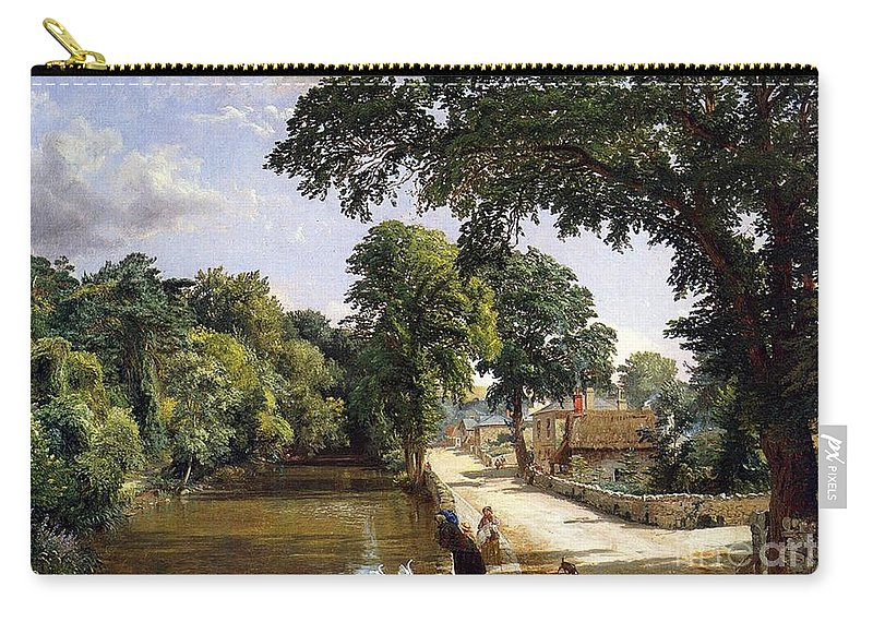 Jasper Francis Cropsey Carry-all Pouch featuring the painting Bonchurch Isle Of Wight by Jasper Francis Cropsey