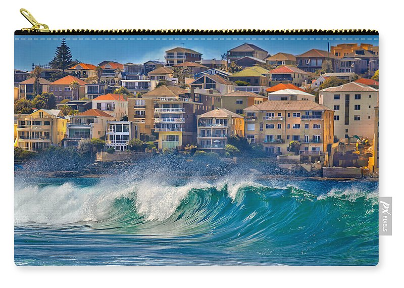 Sydney Carry-all Pouch featuring the photograph Bondi Waves by Az Jackson