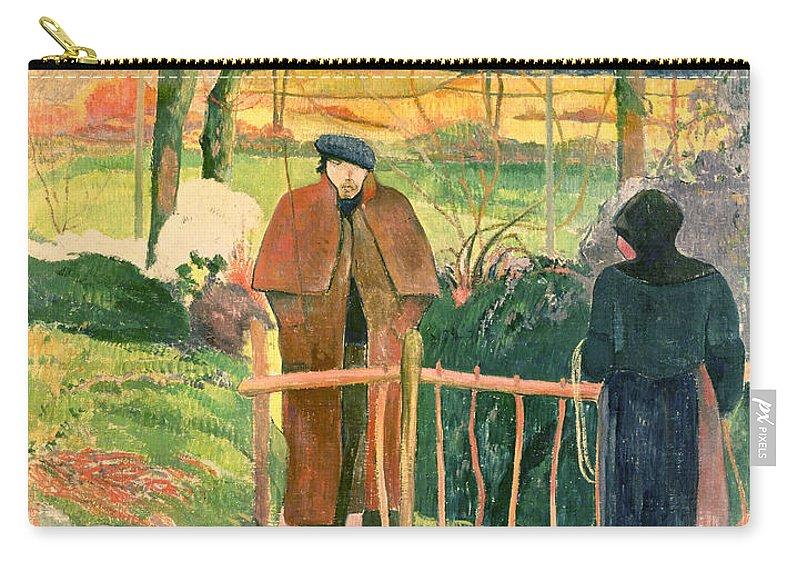 Bonjour Carry-all Pouch featuring the painting Bonjour Monsieur Gauguin by Paul Gauguin