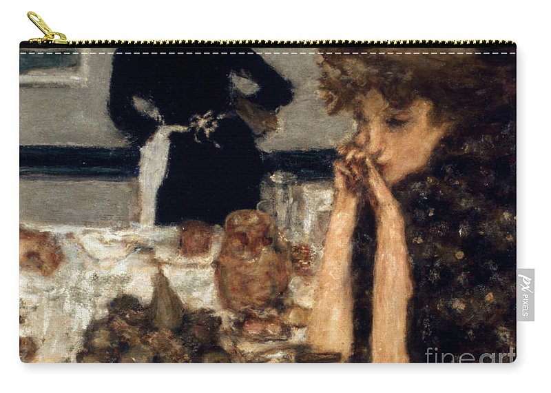 1899 Carry-all Pouch featuring the photograph Bonnard: Breakfast, C1899 by Granger