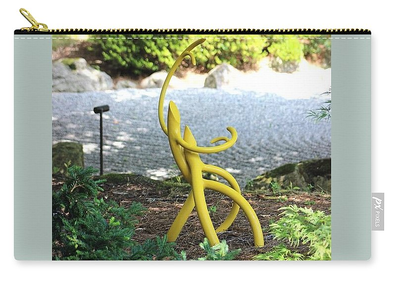 Japanese Gardens Carry-all Pouch featuring the photograph Bonsai Roots 3 by Gayle Miller