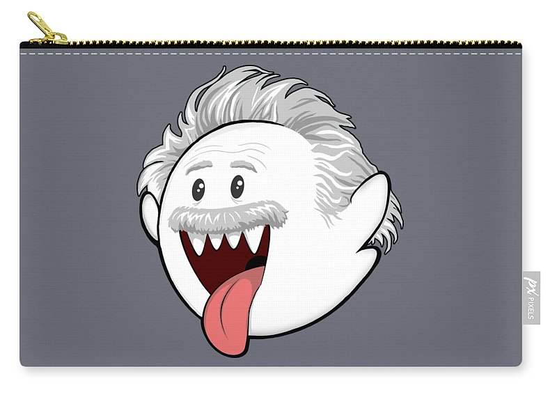 Boo Carry-all Pouch featuring the digital art Boo-Stein by Olga Shvartsur