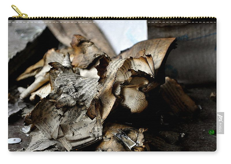 Book Carry-all Pouch featuring the photograph Book Burnning by Shannon Nickerson