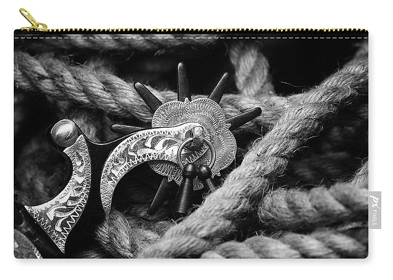 Spur Carry-all Pouch featuring the photograph Boot Spur by Tom Mc Nemar