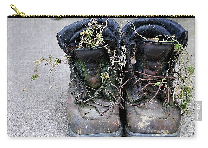 Boots Carry-all Pouch featuring the photograph Boots by David Arment