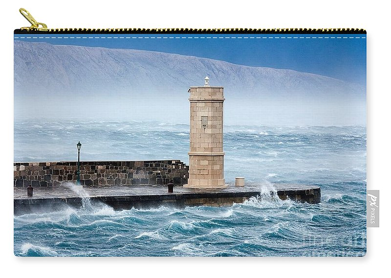 Carry-all Pouch featuring the photograph Bora Senj, Croatia by Ad Salaheddine