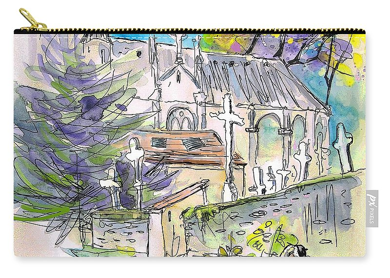 Borderes Carry-all Pouch featuring the painting Borderes Sur Echez 03 by Miki De Goodaboom
