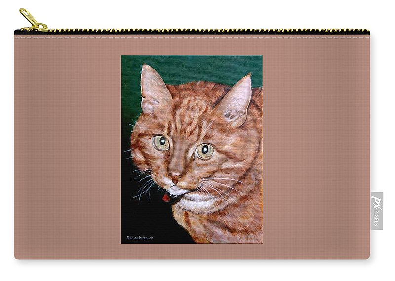 Pets Carry-all Pouch featuring the painting Boris by Rob De Vries