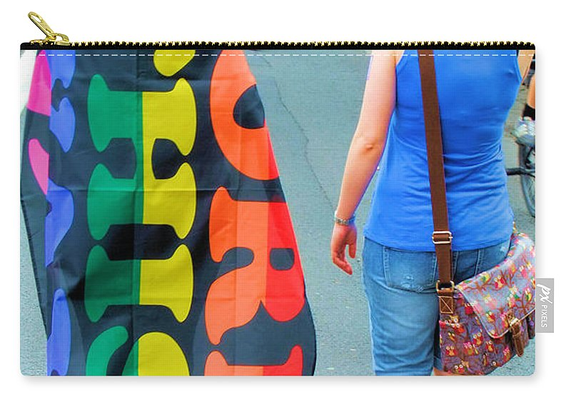 Brighton Carry-all Pouch featuring the photograph Born This Way by Jamie McGrane