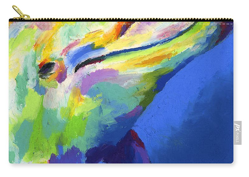 Dolphin Carry-all Pouch featuring the painting Born To Live Free by Stephen Anderson