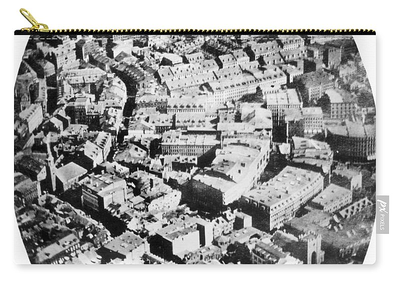 1860 Carry-all Pouch featuring the photograph Boston 1860 by Granger