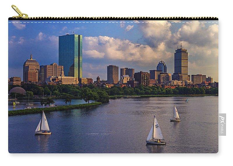 Longfellow Bridge Carry-all Pouch featuring the photograph Boston Skyline by Rick Berk