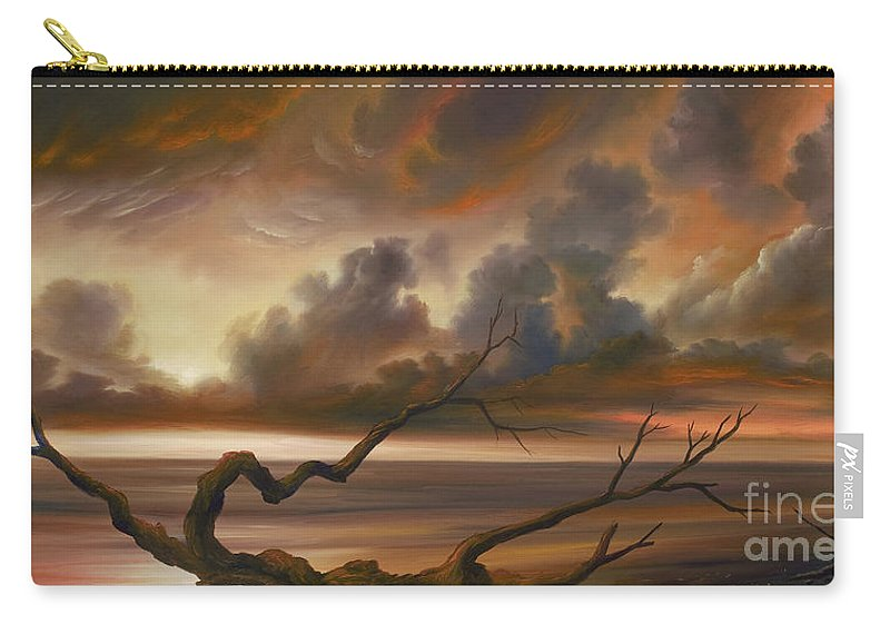 Ocean Carry-all Pouch featuring the painting Botany Bay by James Christopher Hill