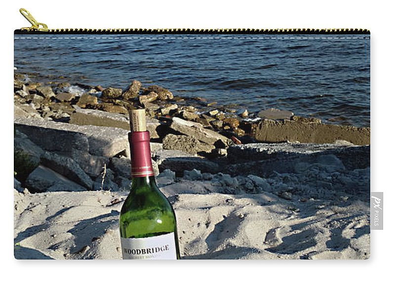 Mighty Sight Studio Carry-all Pouch featuring the photograph Bottled Beach by Steve Sperry