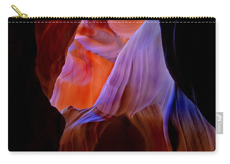 Canyon Carry-all Pouch featuring the photograph Bottled Light by Mike Dawson