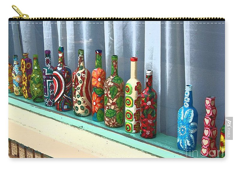 Bottles Carry-all Pouch featuring the photograph Bottled Up by Debbi Granruth