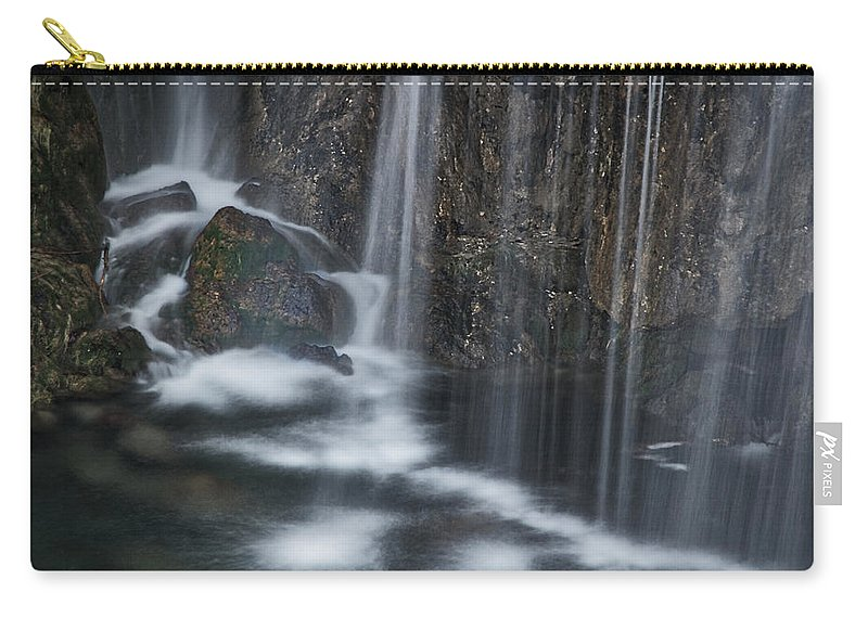 Croatia Carry-all Pouch featuring the photograph Bottom Of A Waterfall #3 by Stuart Litoff