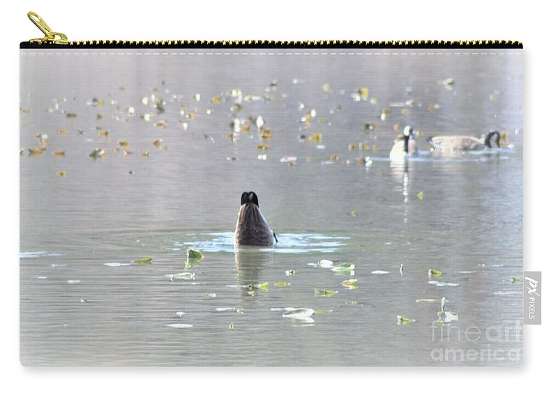 Bottoms Up Carry-all Pouch featuring the photograph Bottoms Up by Patti Whitten