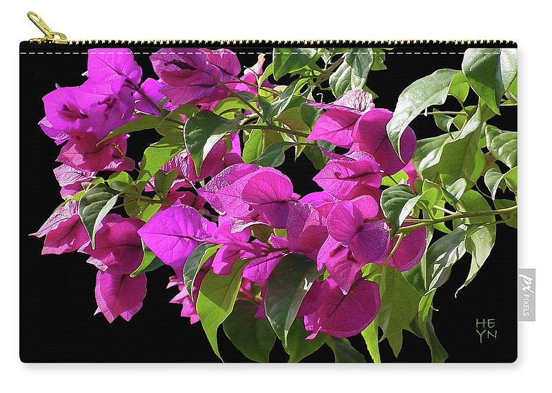 Cutout Carry-all Pouch featuring the photograph Bougainvillea Cutout by Shirley Heyn