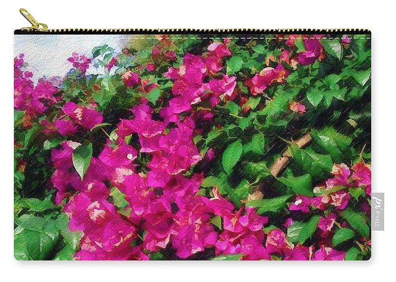 Bougainvillea Carry-all Pouch featuring the photograph Bougainvillea by Sandy MacGowan