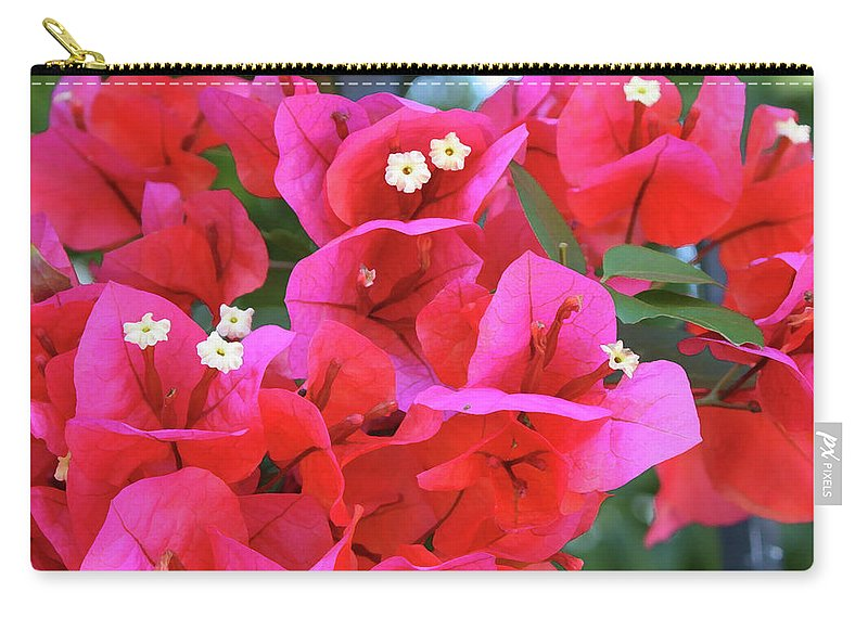 Bougainvillea Carry-all Pouch featuring the photograph Bougainvillea Square by Carol Groenen