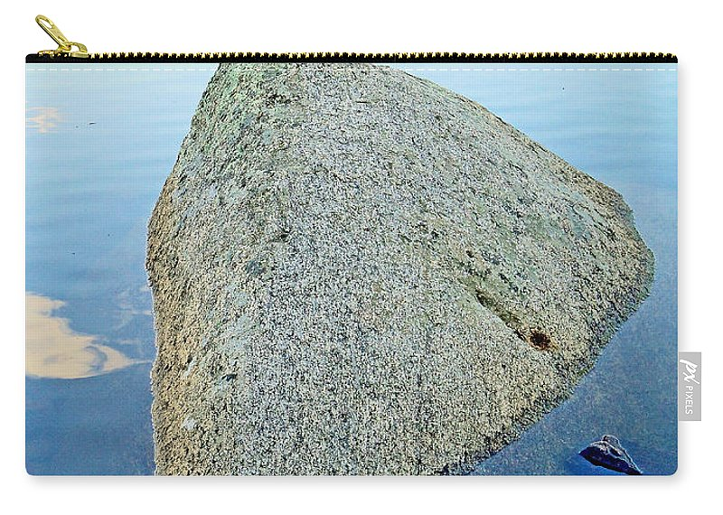 Boulder Carry-all Pouch featuring the photograph Boulder At Echo Lake by Robert Meyers-Lussier