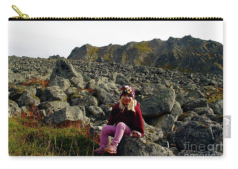 Hatcher Pass Carry-all Pouch featuring the photograph Boulder Field by Ron Bissett