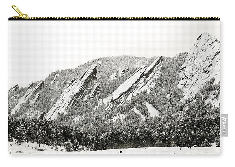 Boulder Carry-all Pouch featuring the photograph Boulder Flatirons Colorado 1 by Marilyn Hunt