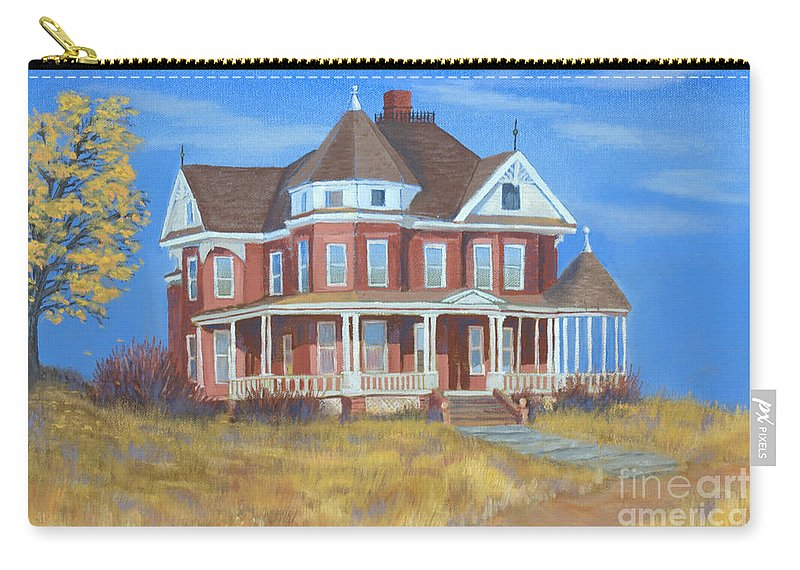 Boulder Carry-all Pouch featuring the painting Boulder Victorian by Jerry McElroy