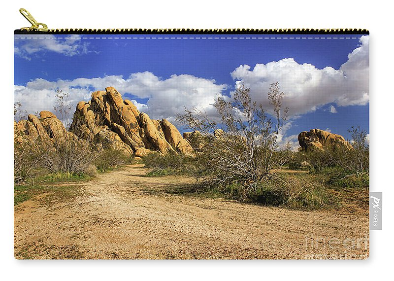Landscape Carry-all Pouch featuring the photograph Boulders At Apple Valley by James Eddy