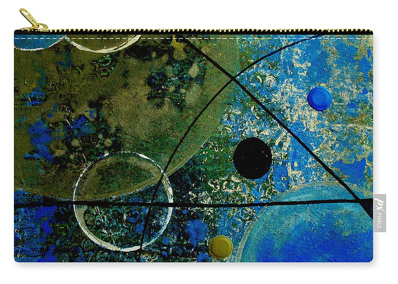 Abstract Carry-all Pouch featuring the painting Bouncer by Ruth Palmer