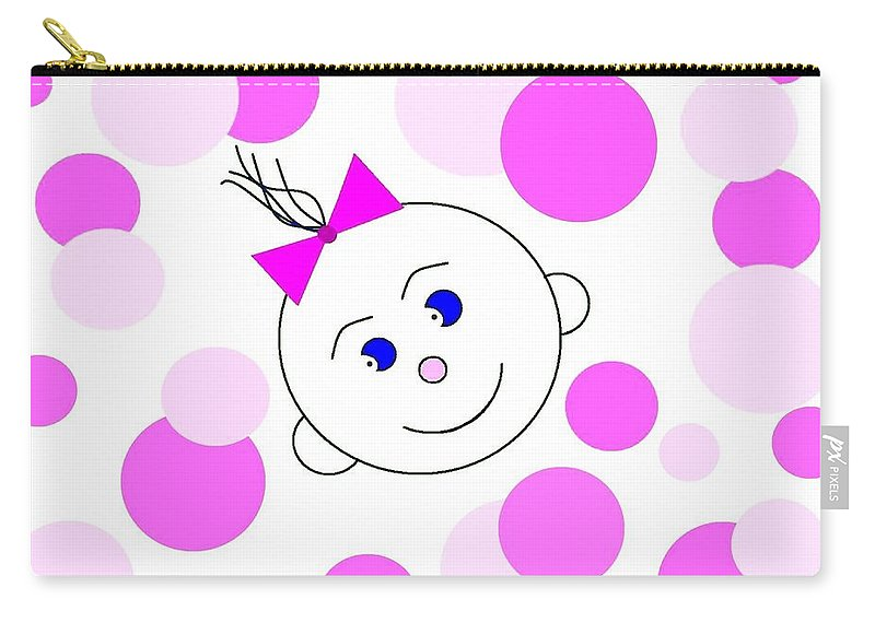 Abstract Carry-all Pouch featuring the digital art Bouncing Baby Girl by Will Borden