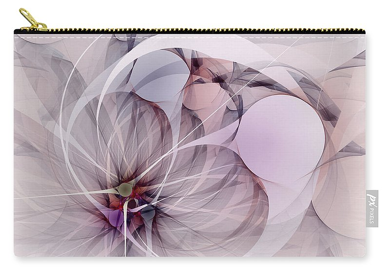 Abstract Carry-all Pouch featuring the digital art Bound Away - Fractal Art by NirvanaBlues
