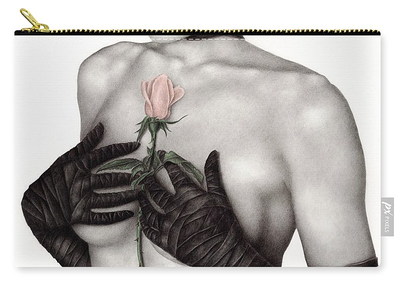 Woman Carry-all Pouch featuring the painting Bound By The Past by Pat Erickson