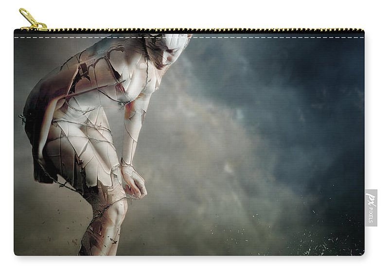 Woman Carry-all Pouch featuring the digital art Bound by Karen Koski