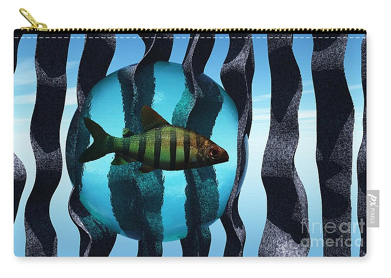 Surreal Carry-all Pouch featuring the digital art Bound by Richard Rizzo