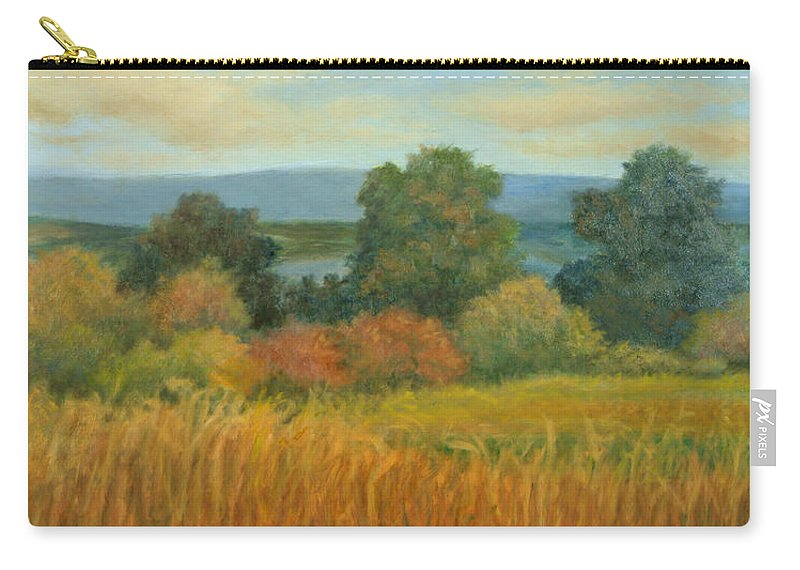 Landscape Carry-all Pouch featuring the painting Bountiful Harvest by Phyllis Tarlow