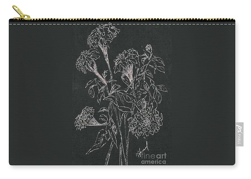 Flowers Carry-all Pouch featuring the painting Bouquet Of Flowers by Vicki Housel