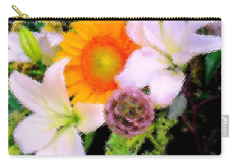 Sun Carry-all Pouch featuring the photograph Bouquet Softly There by Ian MacDonald