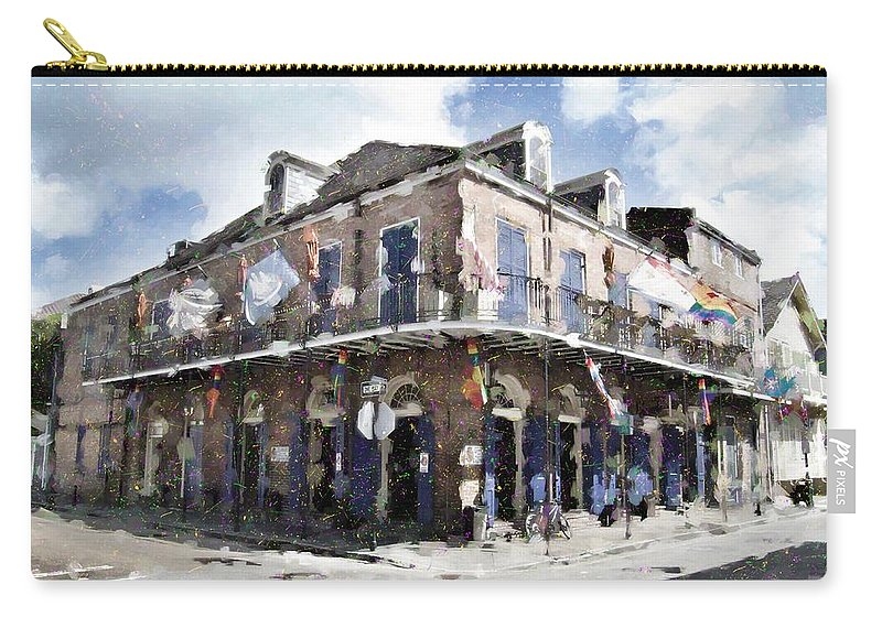 Bourbon Street Carry-all Pouch featuring the photograph Bourbon Pub Pride by Scott Crump