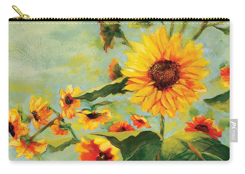 Sunflower Carry-all Pouch featuring the painting Bow Down by Jen Norton