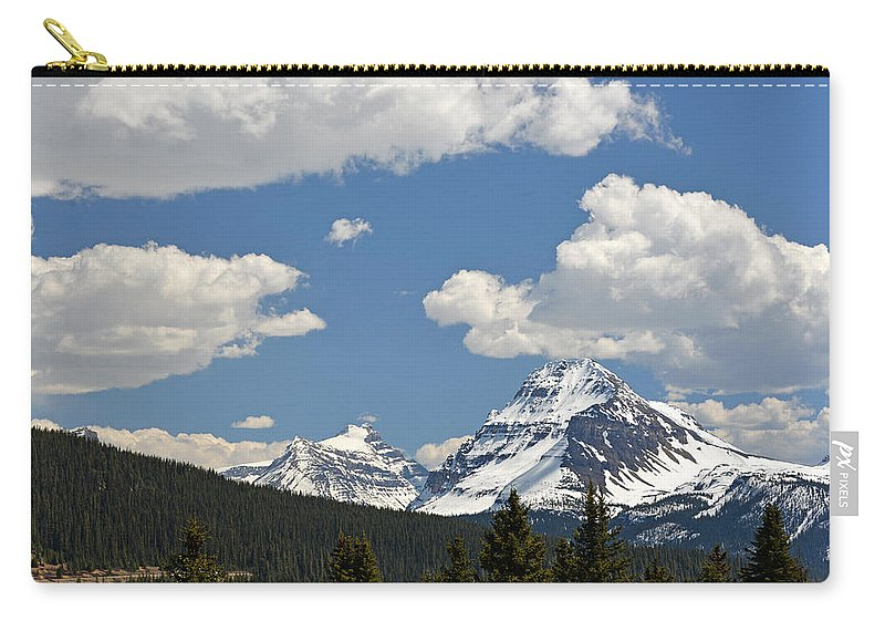 Bow Lake Carry-all Pouch featuring the photograph Bow Lake by Ginny Barklow