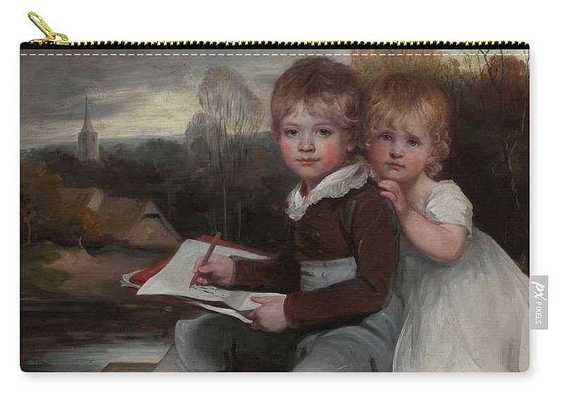 John Hoppner Carry-all Pouch featuring the painting Bowden Children by MotionAge Designs