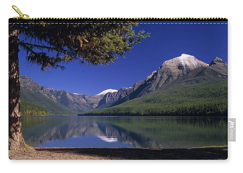 Bowman Lake Carry-all Pouch featuring the photograph Bowman Lake by Leland D Howard