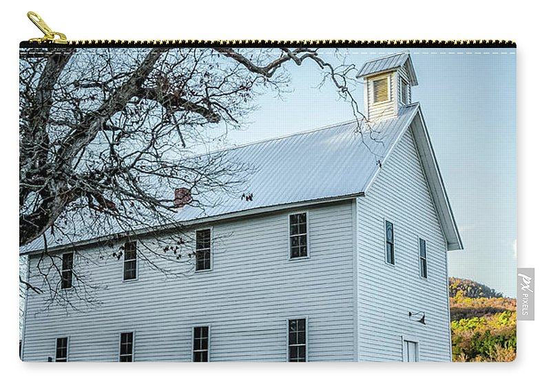 Historic Carry-all Pouch featuring the photograph Boxley Community Center by Patricia Cale