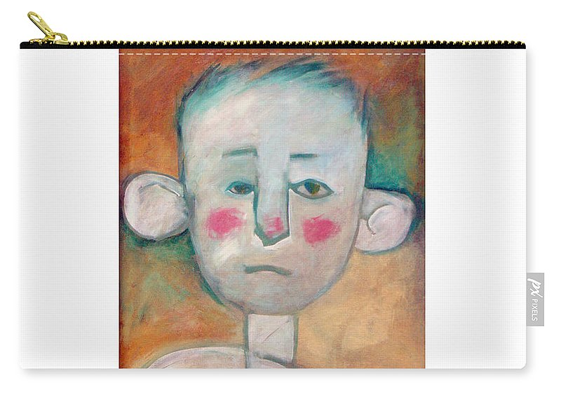 Boy Carry-all Pouch featuring the painting Boy by Tim Nyberg