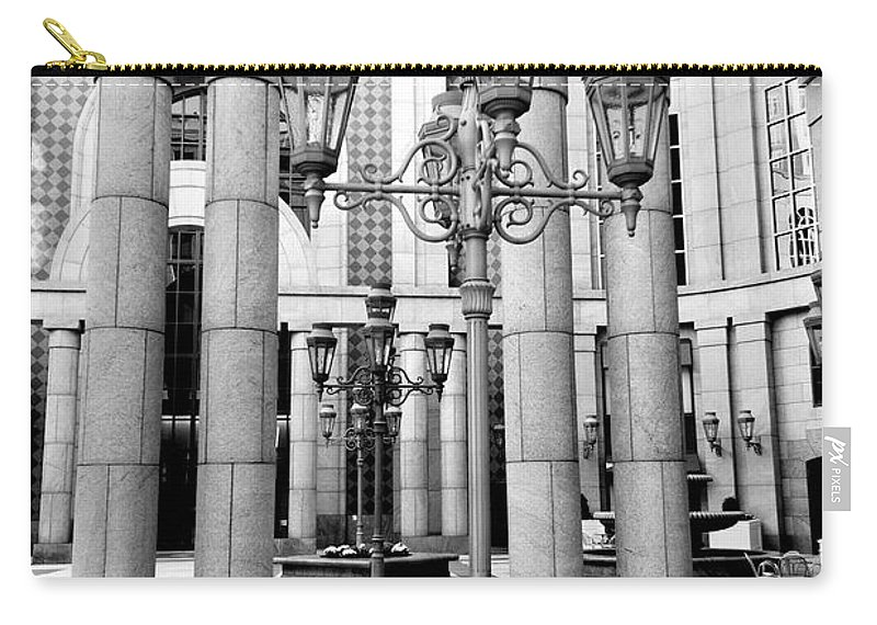 Boston Carry-all Pouch featuring the photograph Boylston Lights by Greg Fortier