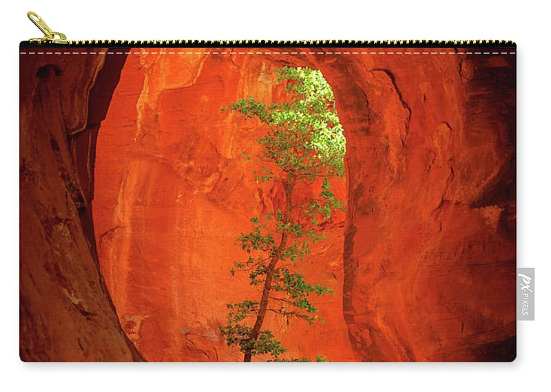 Sedona Carry-all Pouch featuring the photograph Boynton Canyon 04-343 by Scott McAllister