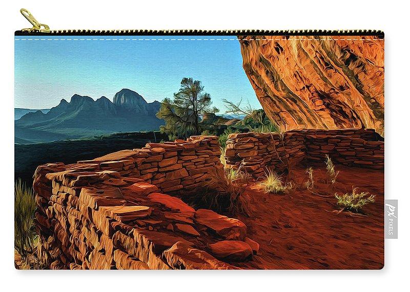 Sedona Carry-all Pouch featuring the photograph Boynton II 04-008 by Scott McAllister
