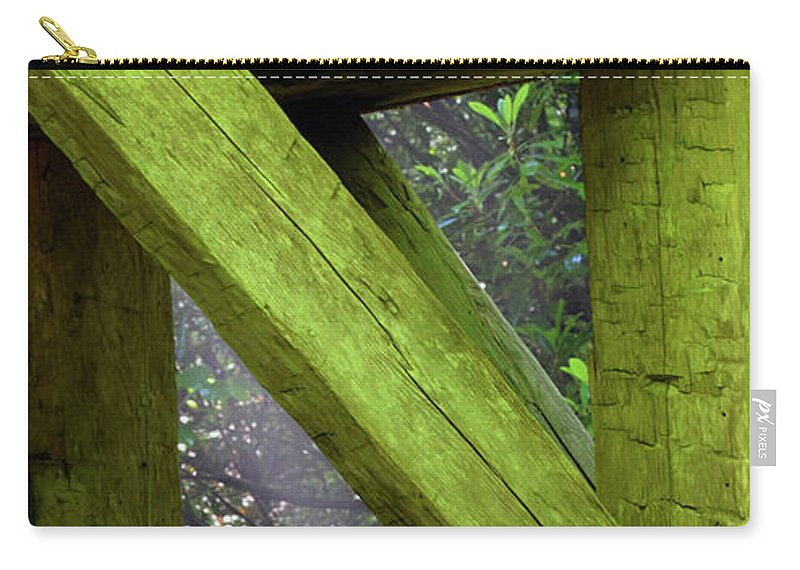 Mingus Carry-all Pouch featuring the photograph Braced With Moss by Pat Turner